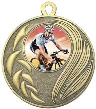 Bronze 50mm Laurel Cycling Medal